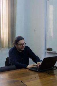 Dr. Macieje Paszynski dictando mini-curso de Análisis Numérico