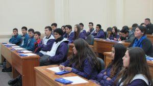 Alumnos del cuarto medio diferenciado matemático del Colegio San Antonio de Villa Alemana visitan el IMA PUCV