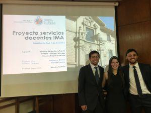 """Estudiantes de la EII PUCV y la jefatura de Docencia del IMA PUCV concretan el """"Proyecto Servicios Docentes IMA"""""""