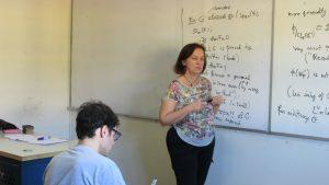 Dra. Anne Marie Aubert del CNRS (Francia) dictó curso en el IMA PUCV