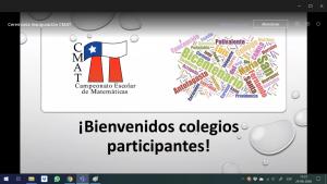En formato online se desarrolla la primera fecha del Campeonato Escolar de Matemáticas 2020